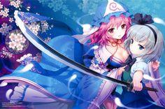 an2a-blue-eyes-gray-hair-hat-katana-konpaku-youmu-pink-eyes-pink-hair-saigyouji-yuyuko-sword-touhou-weapon-wallpaper-1.jpg (2570×1700)