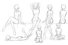 Learn to Draw Manga – Drawing – Poses – … - Modern Drawing Body Poses, Body Reference Drawing, Drawing Reference Poses, Drawing Tips, Sitting Pose Reference, Human Body Drawing, Drawing Anime Bodies, Manga Drawing, How To Draw Manga