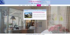 Site en full screen pour l'Hôtel Le Clos des Hortensias par Seeweb. #design #conception #numérique #web