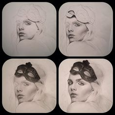 Gorgeous Kat Von D sketch - step by step