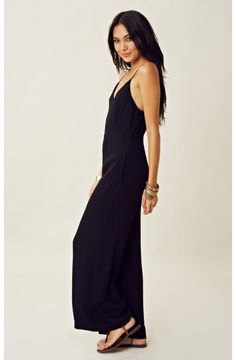 """Line & Dot Deep V Jumpsuit - Kim, Web Merchandiser """"Any jumpsuit or romper, any time. so easy to get dress! toss on some jewellery and your good to go!"""""""