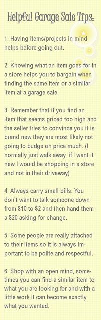 Helpful Garage Sale Tips to try...