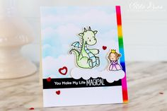(I) (L)ove (D)oing (A)ll Things Crafty!: You Make My Life Magical Valentine's Day Card ft. MFT's Magical Dragons Stamp set.