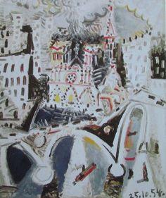 Notre Dame de Paris PABLO PICASSO Kunstdruck Reproduktion Surrealismus Kunst