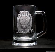 Купить Коллекционная пивная кружка - король лев в интернет магазине на Ярмарке Мастеров
