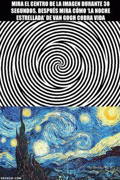 Procrastination Playground – An efficient way to waste time Van Gogh's starry night optical illusion Cool Ideas, Beste Gif, Wow Art, Cool Stuff, Random Stuff, Funny Stuff, Mind Blown, Trippy, Fun Facts