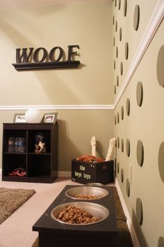 Dog room.  I always wanted a room just for my puppies =) that way i would feel ok with leaving them locked in there when im not home.