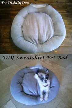 81affb8b616 DIY Old Sweatshirt Pet Bed. Dog EnclosuresDiy Cat BedChristmas Gifts For ...