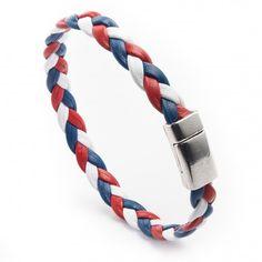Bracelet cuir Bleu Blanc Rouge #euro2016 #allezLesBleus