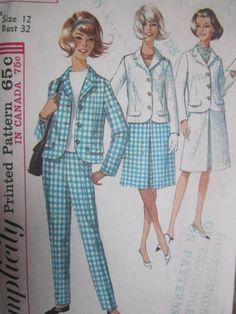See Sally Sew-Patterns For Less - Slacks Skirt Jacket Vintage Uncut Simplicity 5928 Pattern Sz. 12, $9.99 (http://stores.seesallysew.com/slacks-skirt-jacket-vintage-uncut-simplicity-5928-pattern-sz-12/)