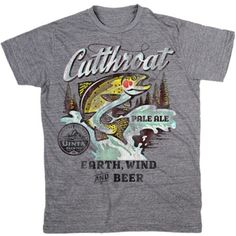 Men's Uinta Cutthroat Pale Ale T-Shirt | Uinta Brewing Tee | Vintage Beer TShirts | PalmerCash