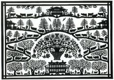 Papercut, Switserland, Pays d' en Haut Paper Art, Paper Crafts, Origami, Cow Art, Paper Quilling, Paper Cutting, Switzerland, Needlework, Folk
