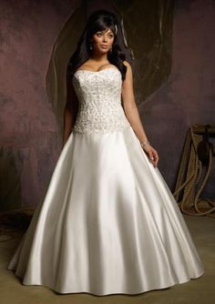 Retro Sweetheart Beaded Embroidery Bodice Ivory Satin Plus Size Wedding Gowns Bridal Dresses Sexy Dresses, Wedding Dress 2013, Plus Size Wedding Gowns, Dresses 2014, Dresses Online, Bridesmaid Dresses Plus Size, Bridal Dresses, Fat Bride, Xl Mode