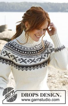 Knitted DROPS jumper with round yoke and Norwegian pattern in Karisma. Size: S to XXXL. Free pattern by DROPS Design. Knitting Patterns Free, Knit Patterns, Free Knitting, Free Pattern, Knitting Tutorials, Drops Design, Norwegian Knitting, Fair Isle Pattern, Fair Isle Knitting