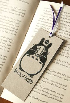 Totoro Spirited Away Bookmark Studio Ghibli Japanese Animation Hand-Stamped Gift