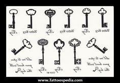 Key Tattoo Designs For Women