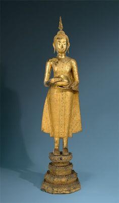 Thailändisch, Rattanakosin-Periode (Ab 1792) - Buddha Śākyamuni. 19. Jahrhundert [...], Orangerie - Objets Sélectionnés à Grisebach | Auction.fr