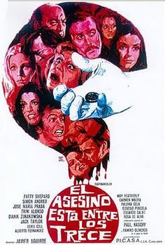 "El asesino está entre los trece (Javier Aguirre, 1974, ""The Murderer is Among the Thirteen"") starring Paul Naschy"