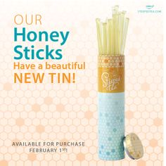 Do you like your tea sweet? Try our Honey Sticks! They come in a beautiful new tin for compact storing. Take them anywhere! - Want them? Ask me how you can get them!!