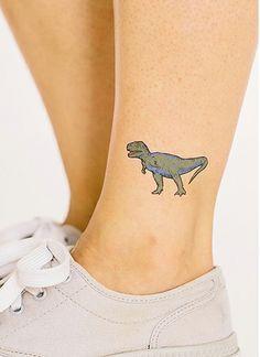T Rex Dinosaur Temporary Tattoo by Tattly