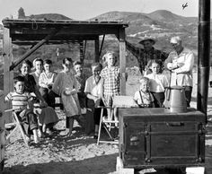 Work party for successfully drilling the water well at the Topanga Community House. San Fernando Valley History Digital Library.