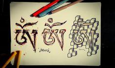 Tibetian OM - tattoo flash by Šarming <3