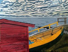 Shop - Page 2 of 7 - Bobbi Pike Art Pike Art, Win Win Situation, Newfoundland And Labrador, The Province, Dory, Boats, Community, The Originals, Canvas