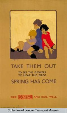 The Passion of Former Days: Spring Calling, London Listening Poster by James Henry Dowd, 1925