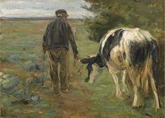 Max Liebermann - Farmer and cow