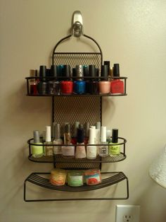 Shower Caddy Made Into A Nail Polish Stand :)
