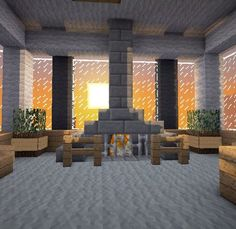 Minecraft Furniture - Fireplaces I'm jealous of this.. I suck at making houses on Minecraft... -.-