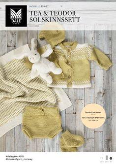 Tea og Teodor Solskinnssett - Køb billigt her Crochet Crafts, Knit Crochet, Drops Baby, Baby Barn, Preemie Babies, Baby Knitting Patterns, Knitting Ideas, Baby Costumes, Kids And Parenting