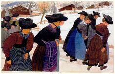 Ernest Bieler (Swiss, 1863-1948) «Jeunes Saviésannes»