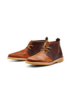 VERSATILE LEATHER BOOTS, Cognac