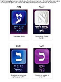 Mazo de Tarot las 22 letras hebreas del Péndulo Hebreo. Diseño Chamanas. IMPRIMIBLES