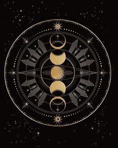 Silarrise emblem/symbol/coat of arms/e. - Silarrise emblem/symbol/coat of arms/e. Moon Art, Moon Phases Art, Moon Child, Coat Of Arms, Stars And Moon, Art Inspo, Mandala, Illustration Art, Drawings