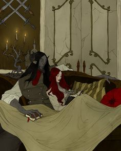 Beauty and the Beast - Evening Mini Art Print by Abigail Larson - Without Stand - 3 Couple Style, Couple Art, Dark Fantasy Art, Dark Art, Character Inspiration, Character Art, Beauty And The Beast Art, Abigail Larson, Hades And Persephone