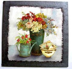 Planter Pots, Painting, Painting Art, Paintings, Painted Canvas, Drawings