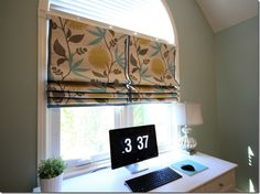 Make Your Own Window Treatment! No Sew Roman Shades {DIY Diaries} - The Inspired Room