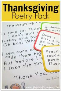 Thanksgiving Poetry Pack {FREE} This Reading Mama