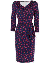 Women's BlueHearts Print Dress