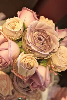 Piped buttercream rose cupcakes by Victoria's Kitchen, via Flickr