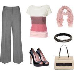 pretty in pink, created by sammi-sicinski on Polyvore