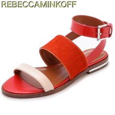 ON Hold ❤️ Hot Orange-Blush Color-blocked sandal❤️ ❤️ Super Cute and Sexy Rebecca Minkoff Color-Block Sandal. Hot Orange and Blush, Genuine Leather Upper, Leather Lining Sole, Color-Blocked with Sexy Ankle Strap. These sandals are great with skinnies to maxies❤️ Retail $ 225❤️❤️ Have in size 7.5 M and 8.5M Rebecca Minkoff Shoes Sandals