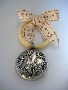 Zilver Art Nouveau Zilveren Rammelaar