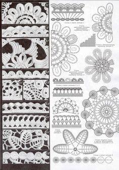 Tina's handicraft : 100 charts for crochet irish motifs Freeform Crochet, Crochet Diagram, Crochet Art, Thread Crochet, Crochet Flowers, Crochet Stitches, Kids Crochet, Crochet Books, Irish Crochet Patterns