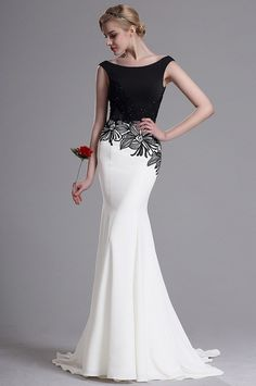 Carlyna Off Shoulde Delicate Lace Appliques Evening Dress