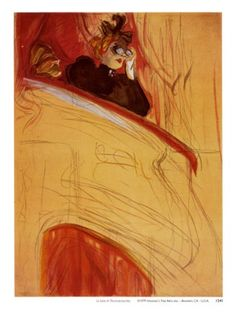 Henri de Toulouse Lautrec - La Loge- hmm, maybe the only one of his I like. Worth a re-pin.