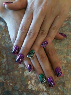 Zebra Rock Star Nails
