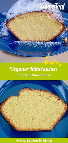 [ Vegan sponge cake with the Thermomix® – this simple and fast vegan cake is so fluffy and juicy! And that with a cake without eggs, milk and butter! Vegan Thermomix® recipes like this are awesome! Vegan Sponge Cake Recipe, Sponge Cake Recipes, Easy Cake Recipes, Real Food Recipes, Vegan Recipes, Dessert Recipes, Lassi Recipes, Smoothie Recipes, Cake Recipe For Decorating